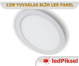12W Yuvarlak Slim Led Panel
