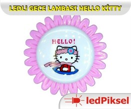 "LED GECE LAMBASI ""HELLO KİTTY"""