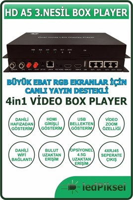 HD A5 BOX PLAYER VİDEO EKRAN KONTROL SİSTEMİ