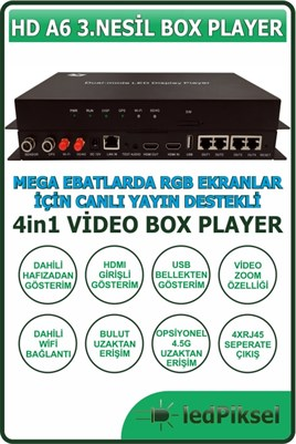 HD A6 BOX PLAYER VİDEO EKRAN KONTROL SİSTEMİ