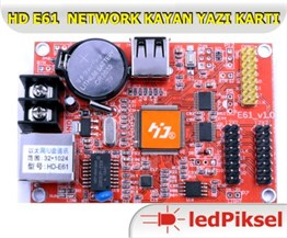 HD E61 2 SATIR NETWORK KAYAN YAZI KONTROL KARTI