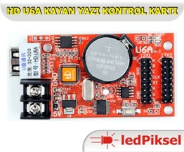 HD U6A 2SATIR LED KAYAN YAZI KONTROL KARTI